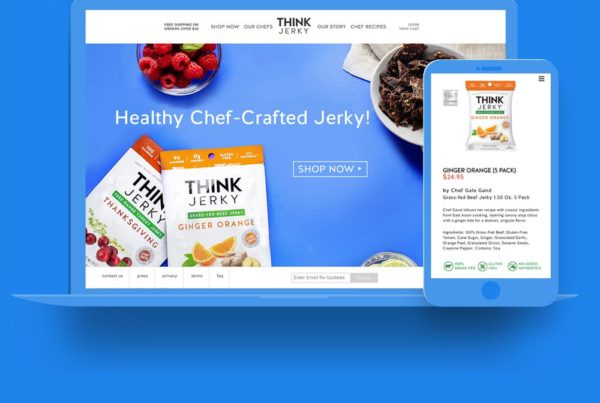 WordPress Web Design by Lunar for Think Jerky