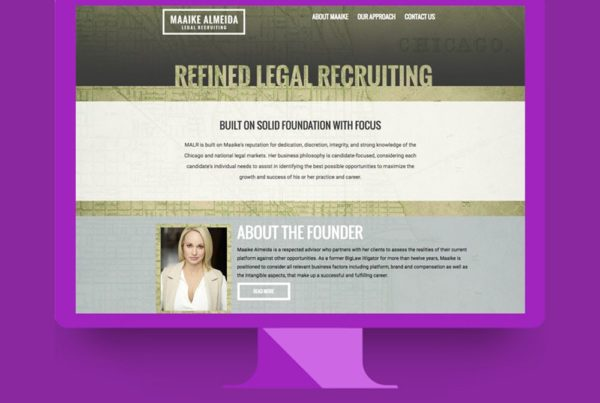 WordPress web design by Lunar Media for Legal Recruting Firm